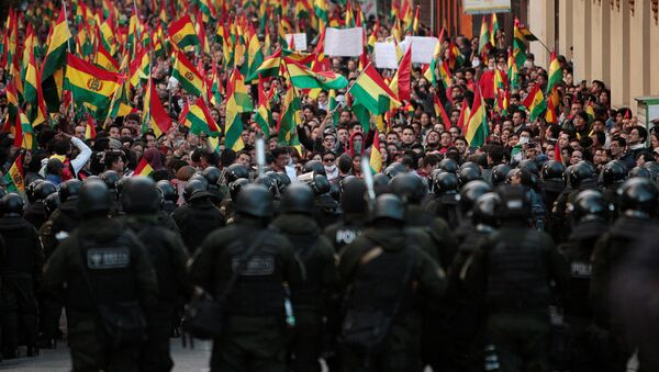 La situación en Bolivia - Sputnik Mundo