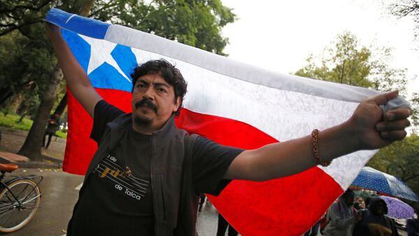Portestas en Chile - Sputnik Mundo