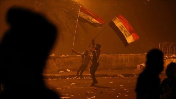 Protestas en Bagdad, Irak - Sputnik Mundo