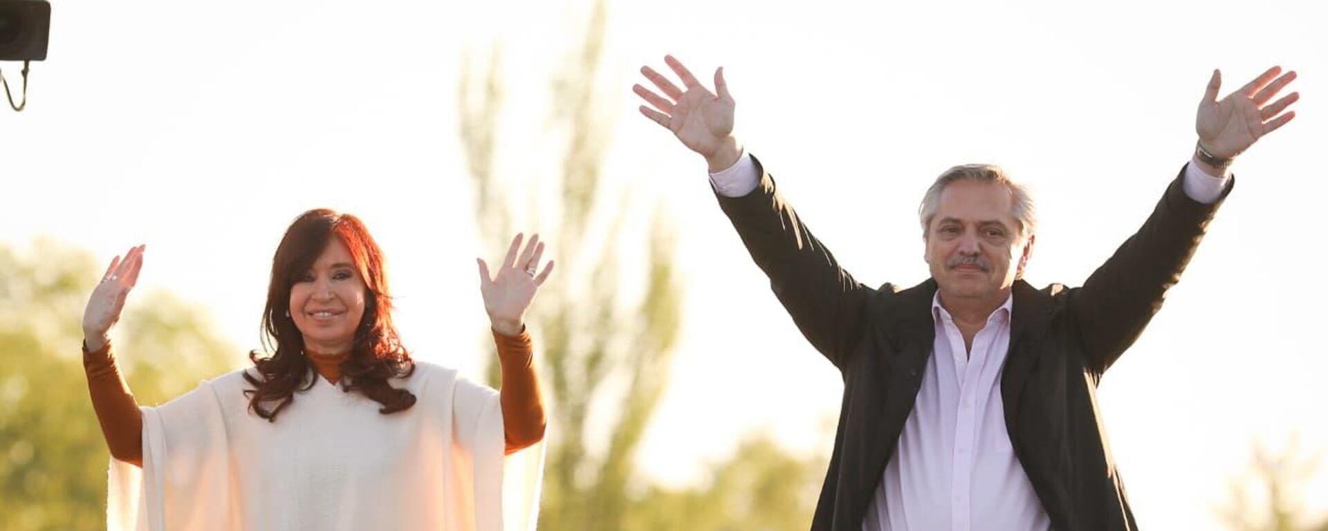Cristina Fernández y Alberto Fernández - Sputnik Mundo, 1920, 17.09.2021