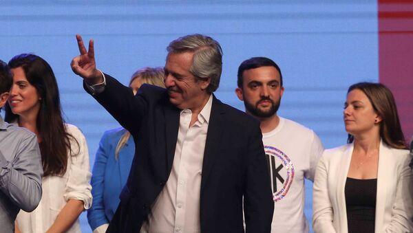 Alberto Fernández, el ganador de los comicios presidenciales en Argentina - Sputnik Mundo