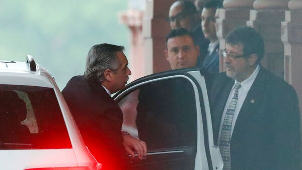 Alberto Fernández llega a la Casa Rosada - Sputnik Mundo