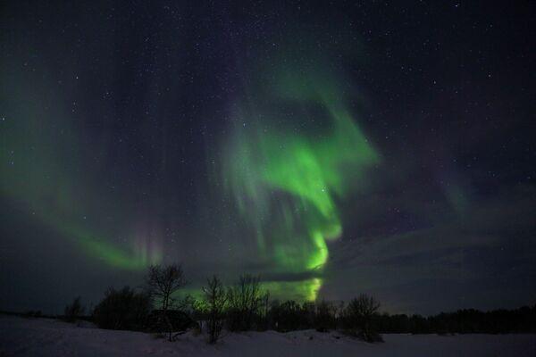 La mágica aurora se apodera del Extremo Norte de Rusia - Sputnik Mundo