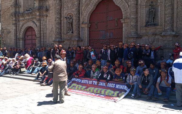 Respaldo popular al presidente Evo Morales en La Paz - Sputnik Mundo
