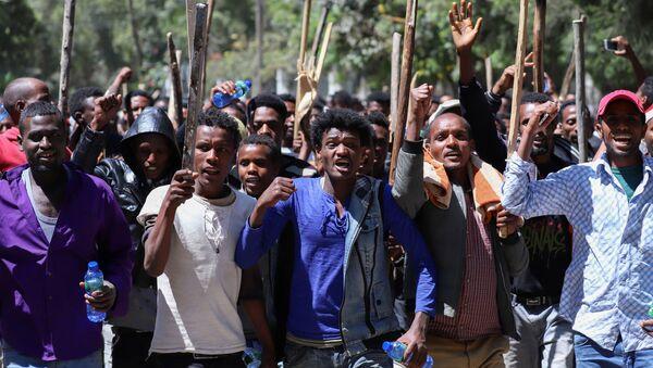 Las protestas en Etiopía - Sputnik Mundo