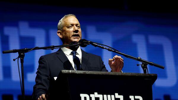 Benny Gantz, presidente de la coalición Azul y Blanco - Sputnik Mundo