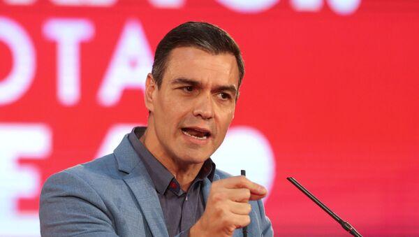Pedro Sánchez, líder del PSOE y presidente del Gobierno en funciones - Sputnik Mundo