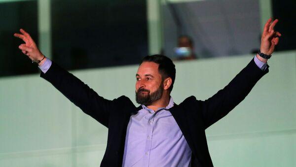 Santiago Abascal, líder del partido de ultraderecha español Vox - Sputnik Mundo
