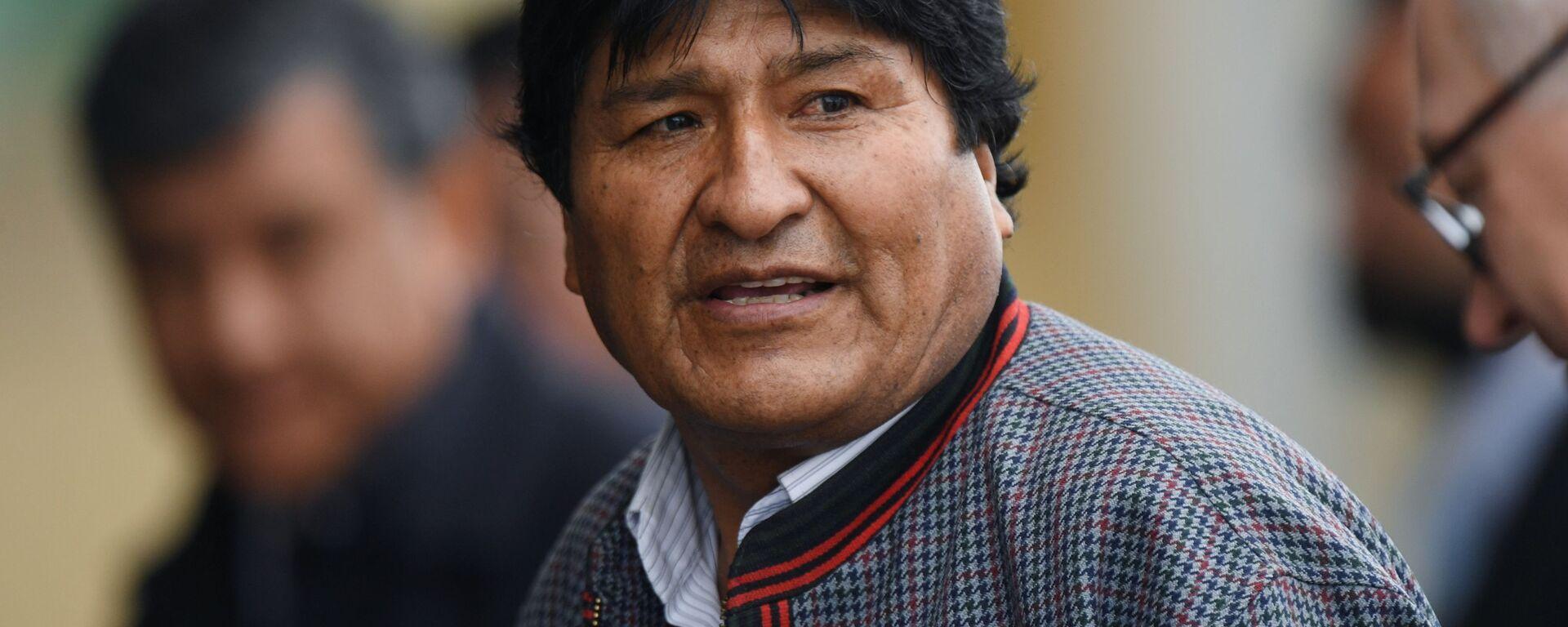 Evo Morales, presidente boliviano  - Sputnik Mundo, 1920, 17.09.2021