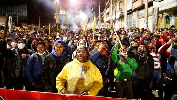 Campesinos en la ciudad de El Alto, Bolivia - Sputnik Mundo