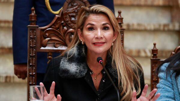 Jeanine Áñez, presidenta interina de Bolivia - Sputnik Mundo
