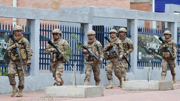Militares bolivianos en La Paz, Bolivia - Sputnik Mundo