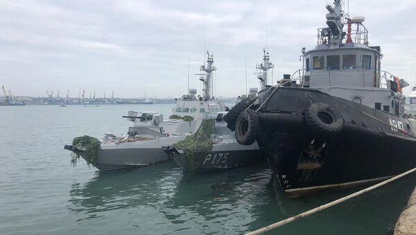 Los barcos ucranianos detenidos en el estrecho de Kerch - Sputnik Mundo