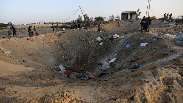 La situación en la Franja de Gaza - Sputnik Mundo