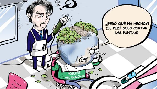 Bolsonaro esquila la Amazonía - Sputnik Mundo