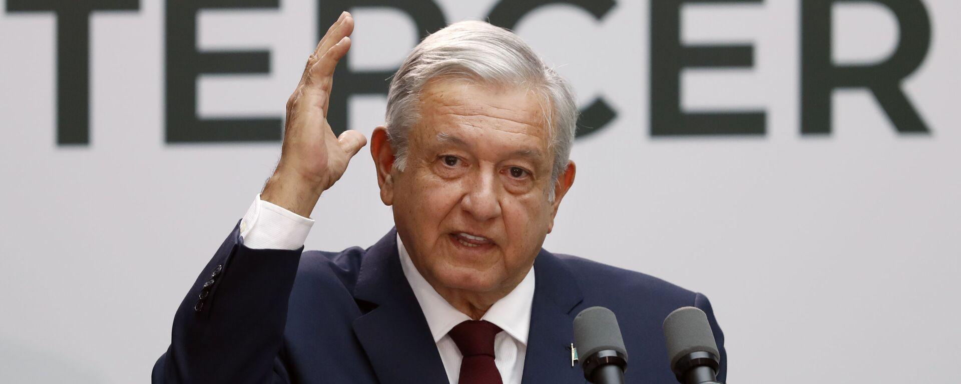 Andrés Manuel López Obrado, presidente mexicano - Sputnik Mundo, 1920, 27.07.2021