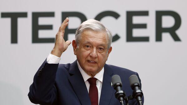 Andrés Manuel López Obrado, presidente mexicano - Sputnik Mundo