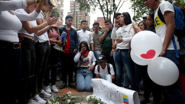 Manifestación en apoyo de Dilan Mauricio Cruz - Sputnik Mundo