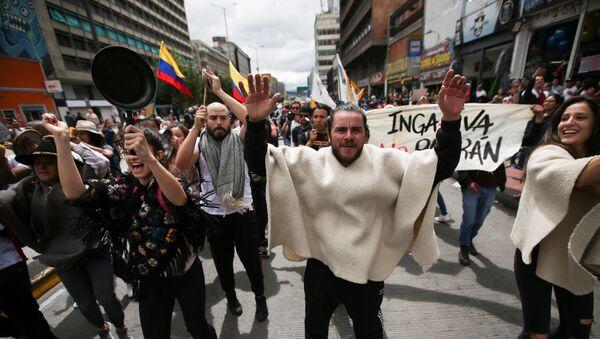 La huelga general en Bogotá - Sputnik Mundo
