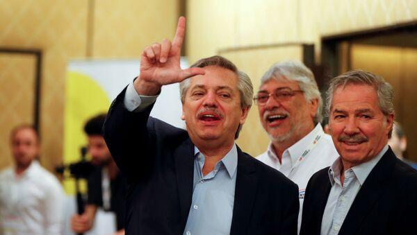 El presidente electo de Argentina Alberto Fernández durante la reunión del Grupo de Puebla en Buenos Aires - Sputnik Mundo