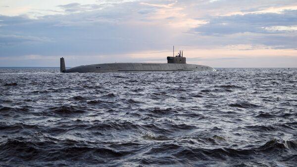 El submarino nuclear ruso de la clase Borei-A Kniaz Vladimir - Sputnik Mundo