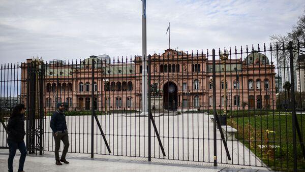 Rejas frente a la Casa Rosada, sede sel Gobierno argentino - Sputnik Mundo
