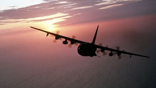 Un avión Hercules AC-130  - Sputnik Mundo