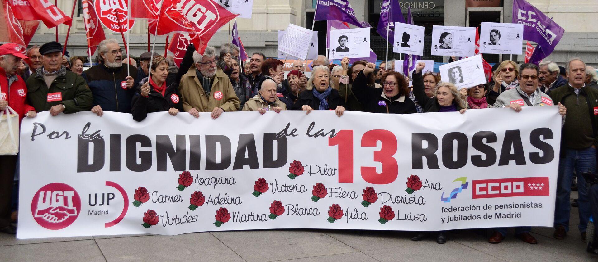 Descendientes de las víctimas del franquismo manifiestan por restablecer la justicia histórica en el caso de 13 Rosas - Sputnik Mundo, 1920, 14.12.2019