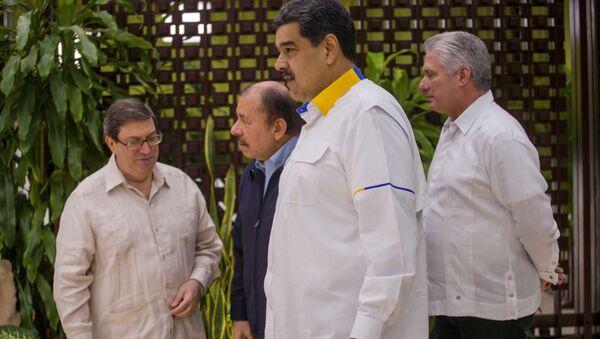 Bruno Rodriguez, Daniel Ortega, Nicolas Maduro y Miguel Diaz-Canel  - Sputnik Mundo