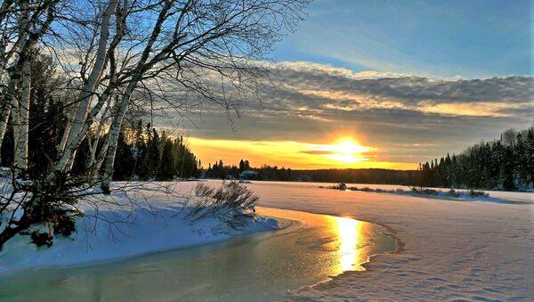Puesta de sol en invierno - Sputnik Mundo