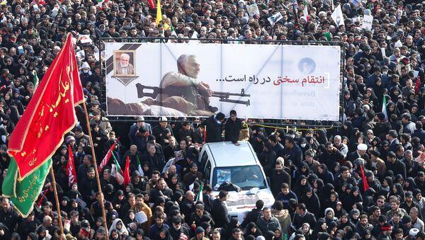 El pueblo iraní se despide del general Soleimani, asesinado por EEUU - Sputnik Mundo