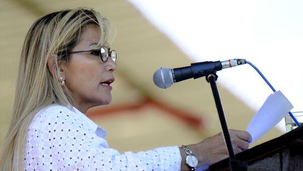 La presidenta de facto de Bolivia, Jeanine Áñez - Sputnik Mundo