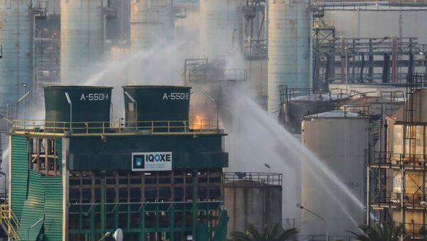 La planta petroquímica en Tarragona tras la explosión - Sputnik Mundo