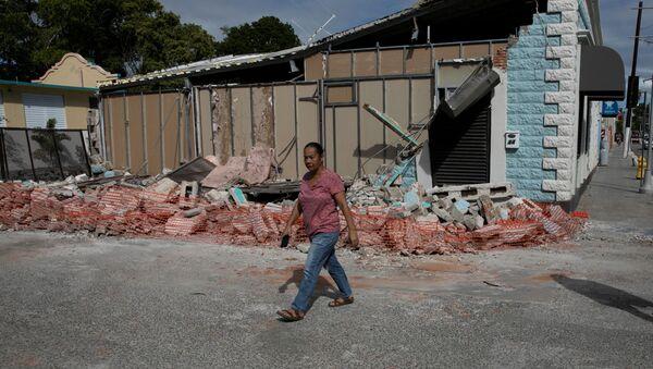 Las consecuencias del terremoto en Guanica, Puerto Rico - Sputnik Mundo