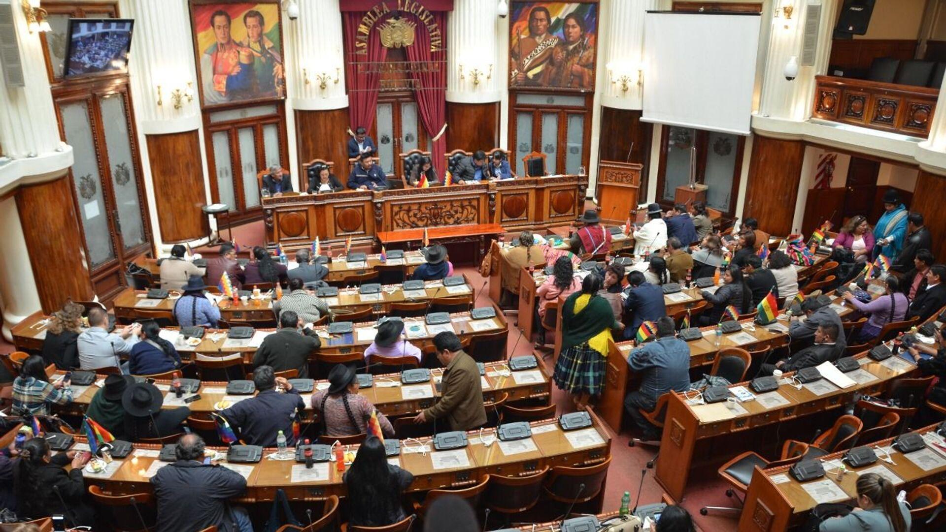 La Asamblea Legislativa de Bolivia - Sputnik Mundo, 1920, 05.10.2021