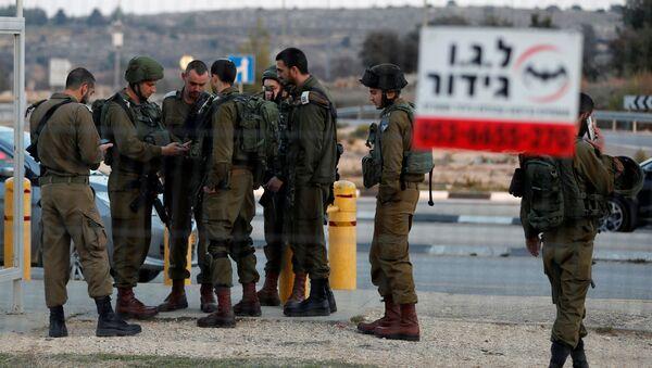 Militares israelíes en Cisjordania  - Sputnik Mundo