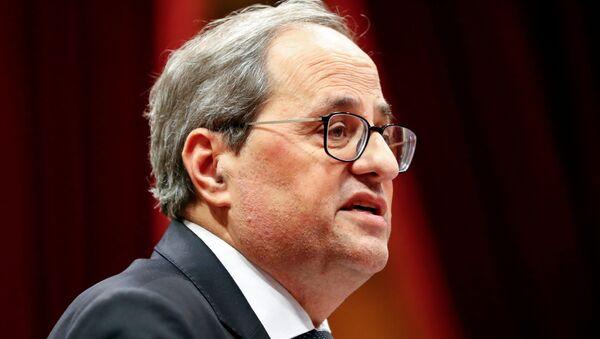 Quim Torra, presidente de Generalitat de Cataluña - Sputnik Mundo