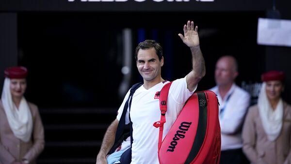 Roger Federer, tenista suizo - Sputnik Mundo