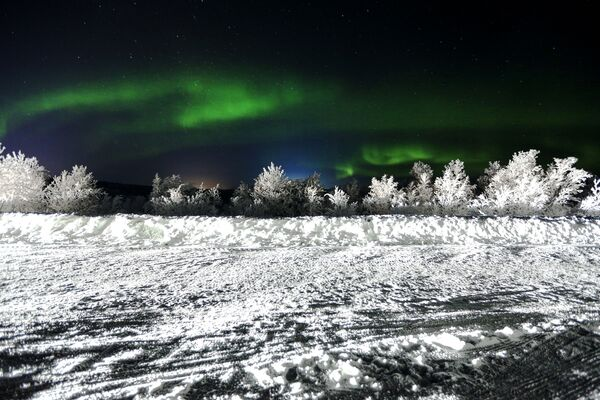 Como en un cuento: así se ven las auroras boreales en Rusia - Sputnik Mundo