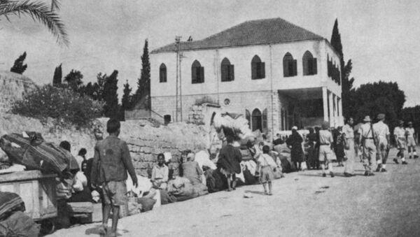 Refugiados palestinos expulsados de Ramla por las tropas israelíes en 1948 - Sputnik Mundo