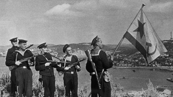 Los marines soviéticos en Port Arthur, China (archivo) - Sputnik Mundo