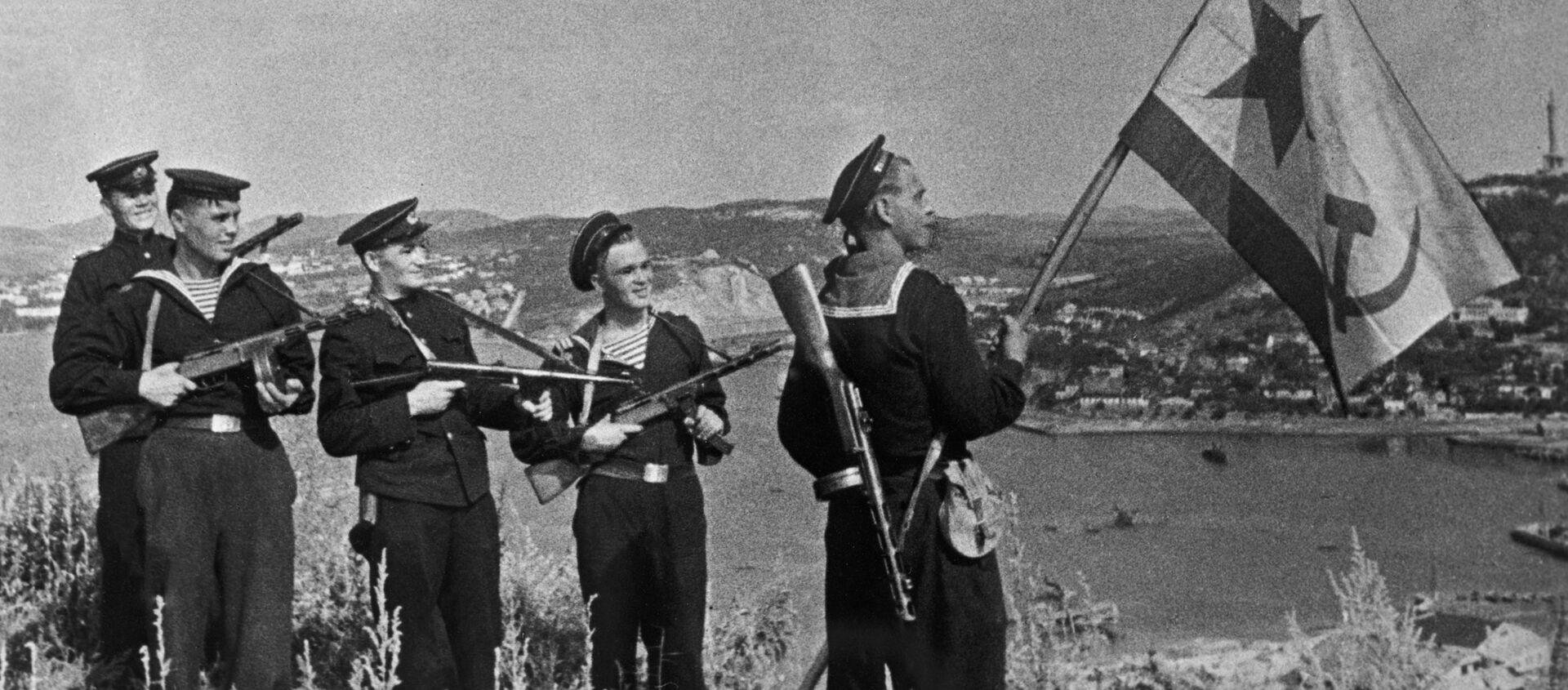 Los marines soviéticos en Port Arthur, China (archivo) - Sputnik Mundo, 1920, 08.08.2020