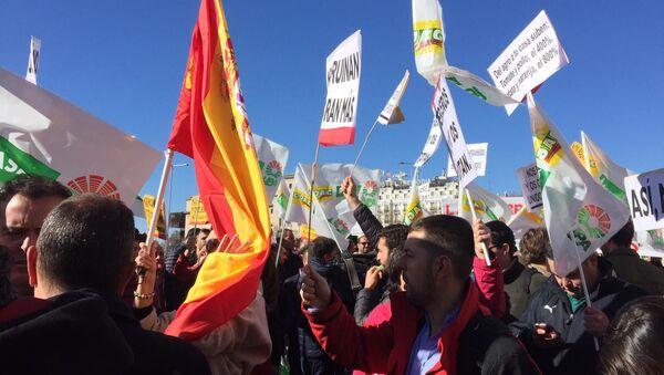 Protesta de agricultores en Madrid (archivo) - Sputnik Mundo
