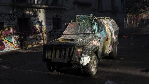 Una camioneta policial chilena (archivo) - Sputnik Mundo