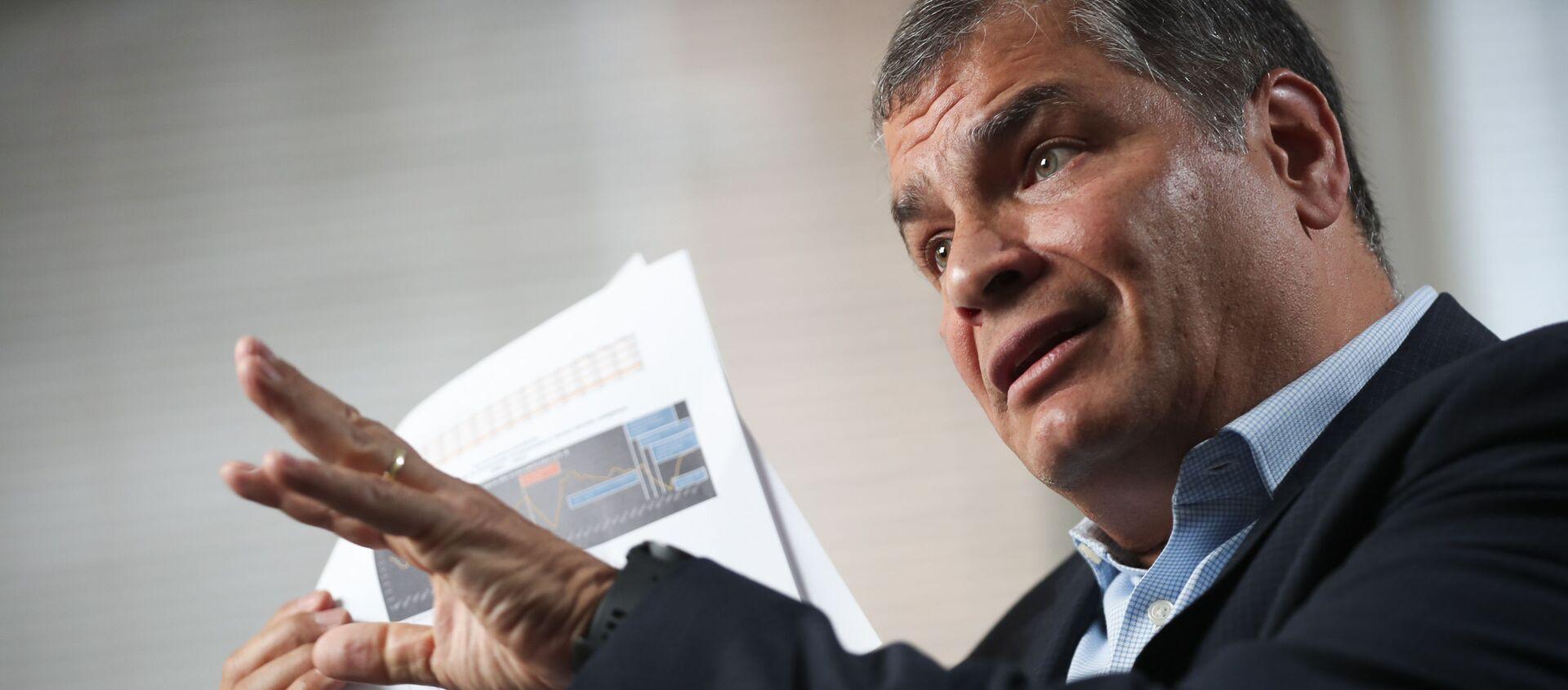 Rafael Correa, expresidente de Ecuador - Sputnik Mundo, 1920, 29.01.2021