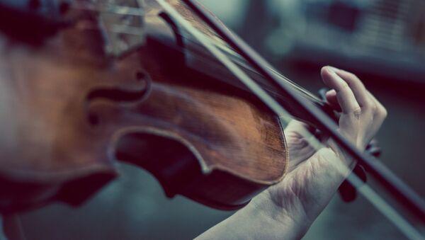 Una persona tocando el violín. Imagen referencial - Sputnik Mundo