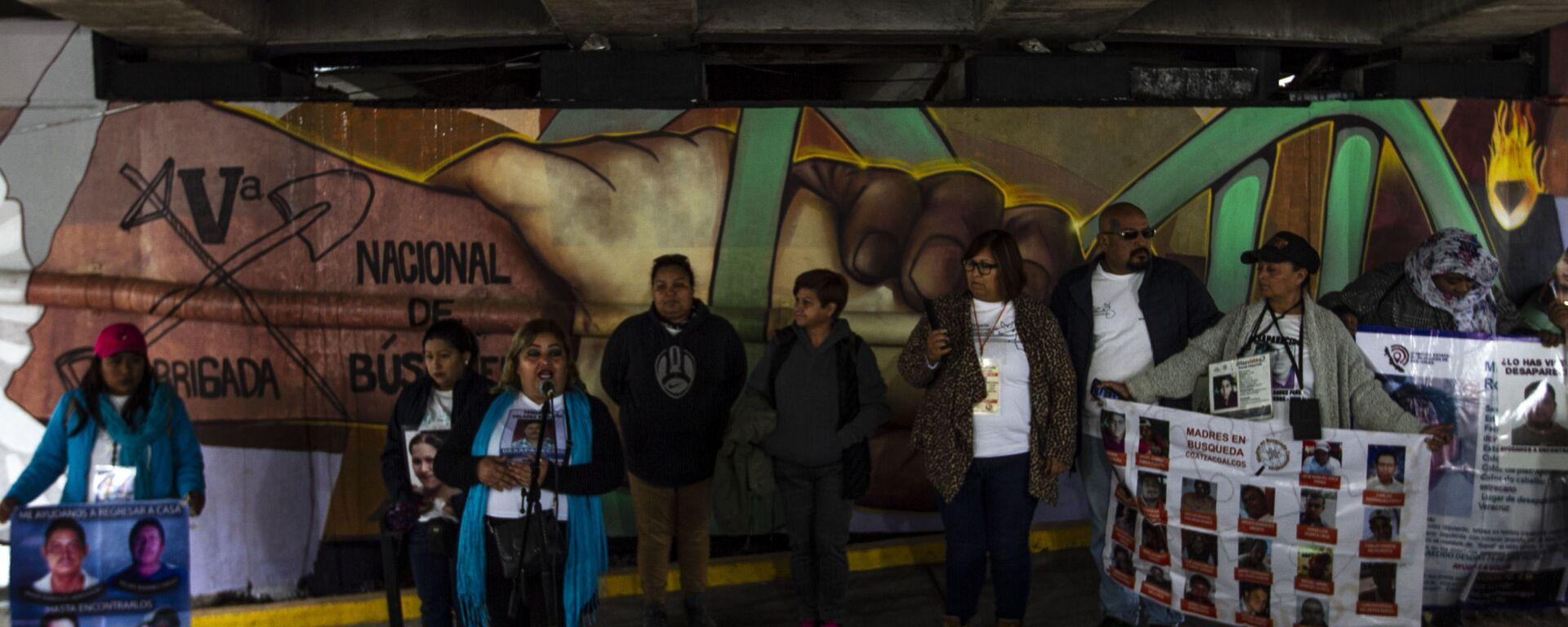 Mural elaborado por la quinta brigada de búsqueda de personas desaparecidas en el bulevar Adolfo Ruiz Cortines, Poza Rica, Veracruz - Sputnik Mundo, 1920, 25.02.2020