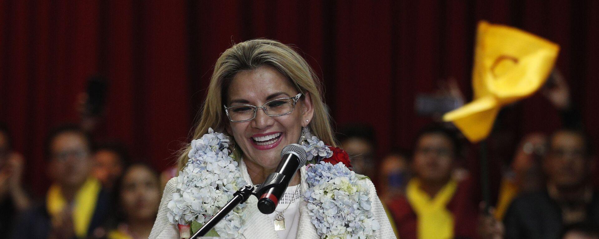 Jeanine Áñez, expresidenta de facto de Bolivia - Sputnik Mundo, 1920, 03.12.2020