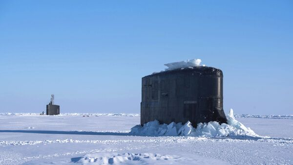 Un submarino estadounidense de la clase Seawolf (archivo) - Sputnik Mundo
