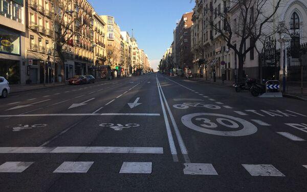 Calles vacías en Madrid por coronavirus - Sputnik Mundo
